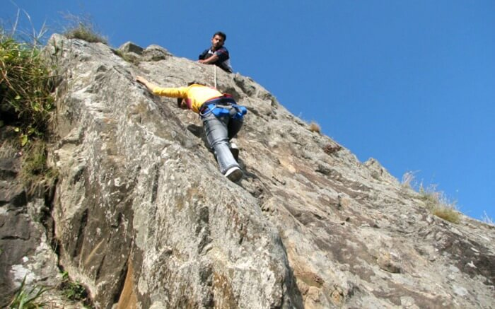 Rock Climbing in Dhanachuli