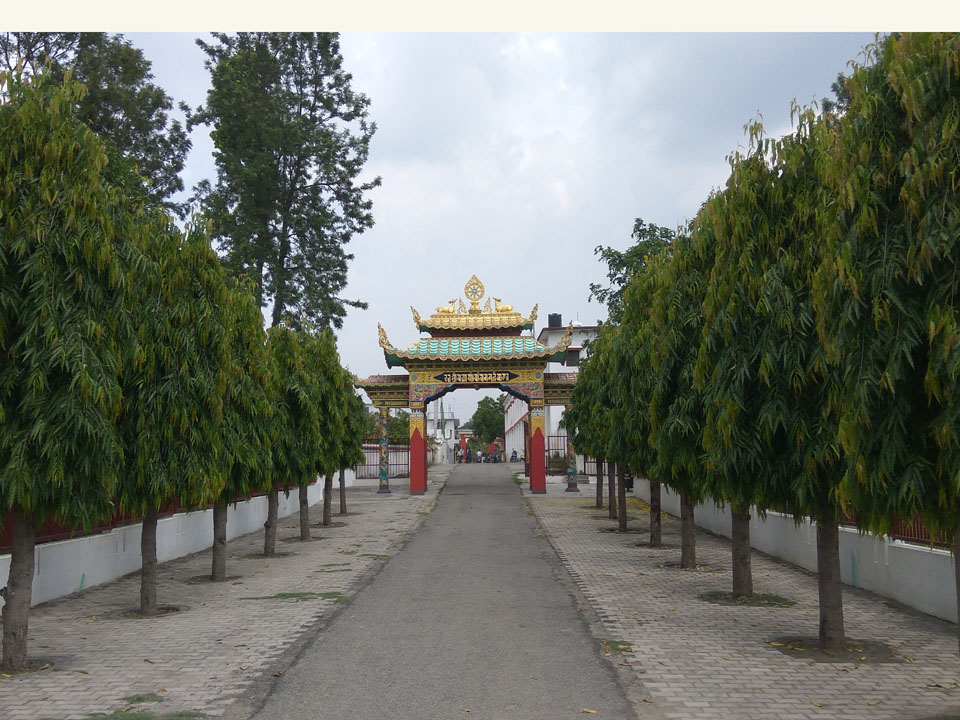 Entrance to Buddhist Monastery